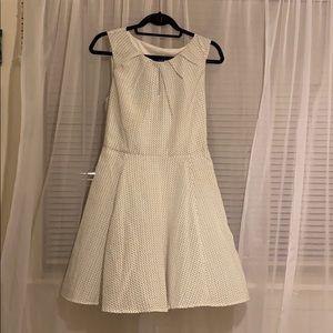 Express White w/Black polka dot dress size 10